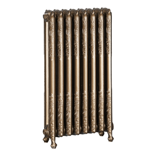 Ironworks Radiators Inc. refurbished cast iron radiator Earlscourt in Blackened Bronze metallic