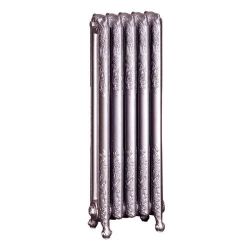 Ironworks Radiators Inc. refurbished cast iron radiator Essex in Rose metallic