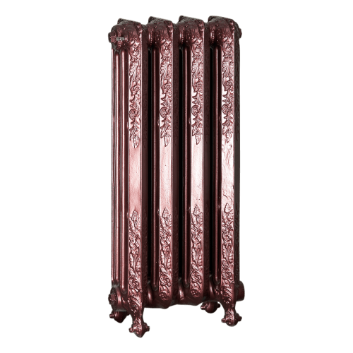 Ironworks Radiators Inc. refurbished cast iron radiator Mattheson in Black Cherry metallic