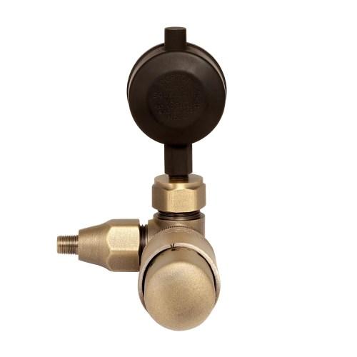 Niva One-Pipe Steam TRV – Natural Brass