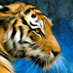 Tiger Portrait Painting | Art Gift Products