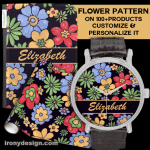 Vivid Colorful Flower Pattern to Personalize