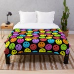 Happy Colorful Smiling Faces Pattern Design