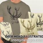 Deer Head Illustration Gifts