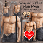 Sexy Male Chest Photo Print Products