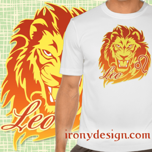 Zodiac Sign Leo Merchandise. Leo The Lion known as The King. July 23 - August 22. Astrology Design for the Leo's colors were chosen based on it's color being Orange, Metal is Gold and element is fire.