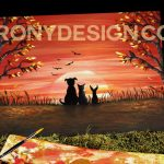 Autumn Sunset Painting