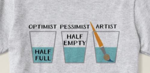 Glass Half Full Funny Meme T-Shirt