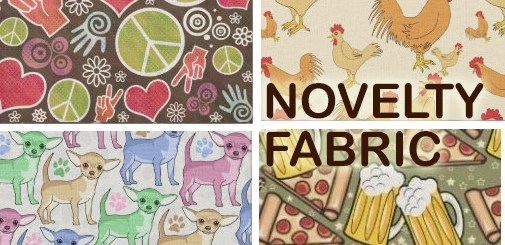 Novelty Print Fabric | Fun, Custom Design Print Pattern Sewing Fabric