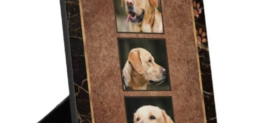 Dog Memorial Keepsake Plaques with Easel