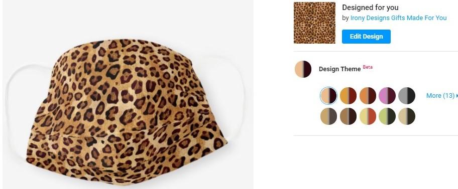 Leopard Cloth Mask Design Color Theme
