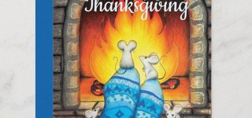 Happy Thanksgiving Flat Card