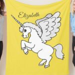 White Unicorn Design – Gray and Yellow Combination Products