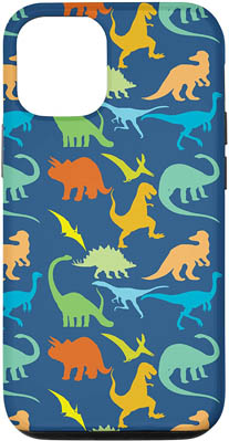 iPhone 12/12 Colorful Dinosaurs Pattern Case
