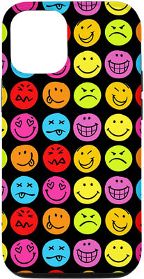 iPhone 12/12 Pro Fun Colorful Smiley Faces Case
