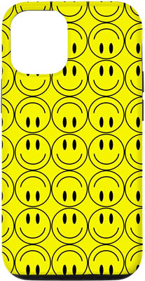 iPhone 12/12 Smiley Happy Faces Pattern Design Case