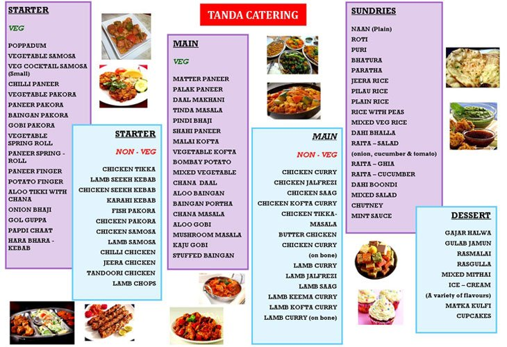 caterers brochure