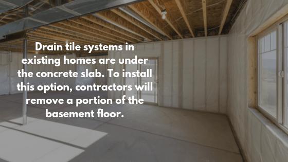 interior exterior drain tile systems