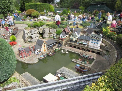 One of the harbours at Bekonscot Model Village