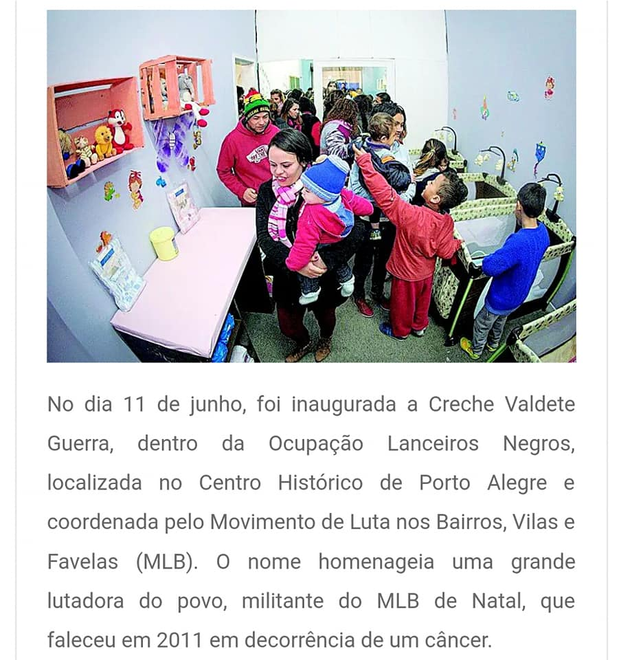 Ocupação Lanceiros Negros MLB Porto Alegre