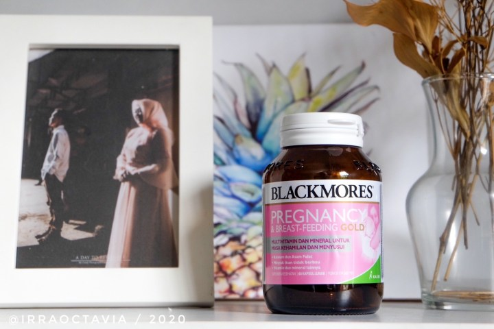 kemasan blackmores pregnancy and breast feeding gold