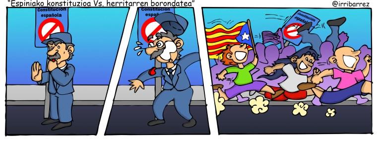espainiar konstituzioa Vs herritarren borondatea
