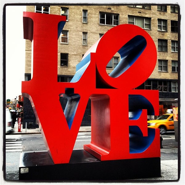 LOVE Sculpture By Robert Indiana Theater District 52
