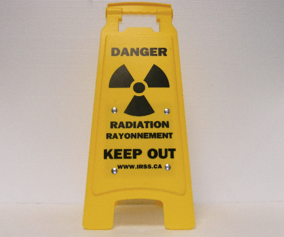 Radiation Keep Out Sandwich Board