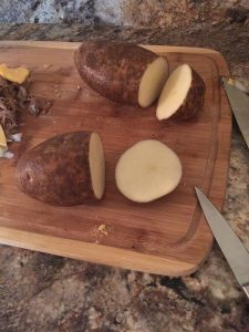Fire Baked Potatoes with Cheesy Pulled Pork