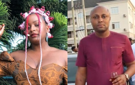 Isreal Afeare Pictured Apologizing To DJ Cuppy And Her Father