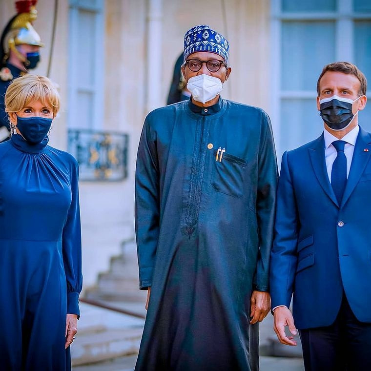 See Pictures And Video From President Buhari's Visit To France