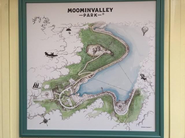 ムーミンバレーパークのマップ