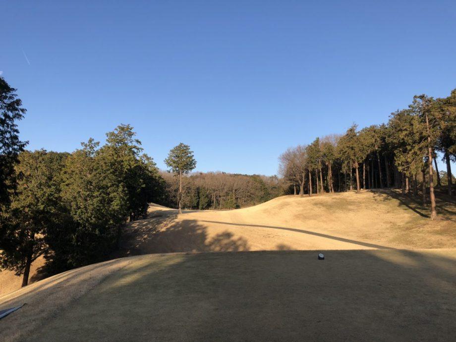 武蔵丘ゴルフコースホールNo.1見た目