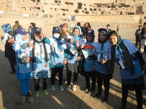 Five Afghan took part in the Marathon of Afghanistan on November 4th. Image via the National Post.