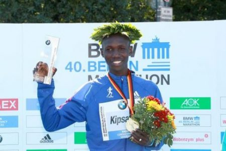 Wilson Kipsang set a world record with his win at the 2013 Berlin Marathon. Kipsang returns to Berlin this Sunday against a stacked elite field. Image via IAAF.