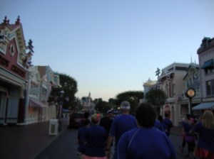 Ran down Main Street USA