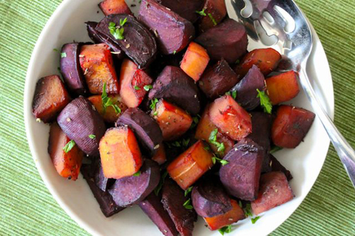 Maple Balsamic Roasted Beets and Squash - Eat Spin Run Repeat 4