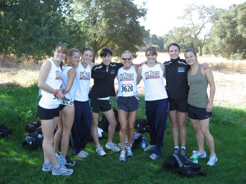 The UVic Vikes Women's Team at Stanford