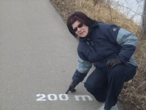 Me at one of the training markers