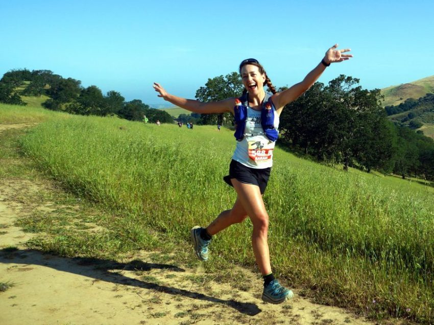 Sarah Lavender-Smith running Mt Diablo