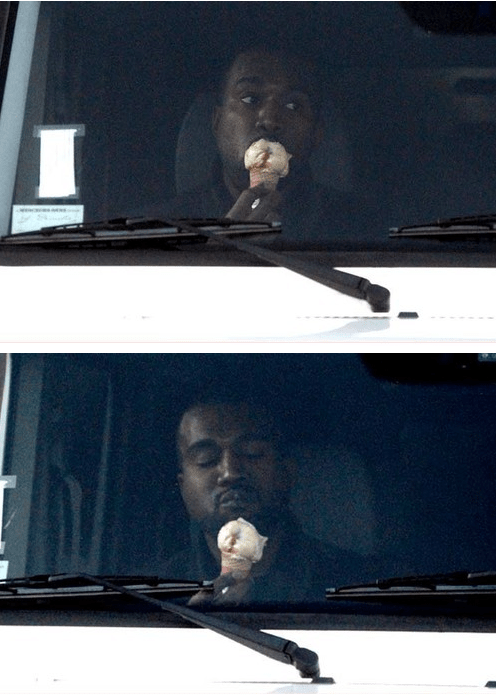 Irti Funny Picture 6525 Tags Kanye West Eating Ice