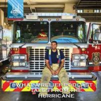 """B.C. Dodge & Lina talk to Firefighter Irfan Mujeebuddin, who lived through Hurricane Harvey from two perspectives at once, in this episode of """"What a Relief!"""" — IRUSA's official podcast."""
