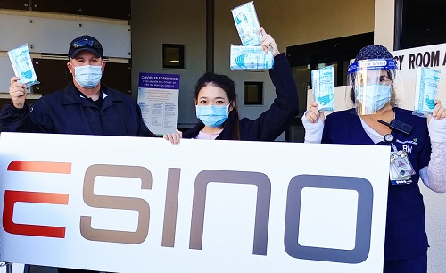 Irvine-Based Product Design Company, Esino Donates Masks & PPE Products