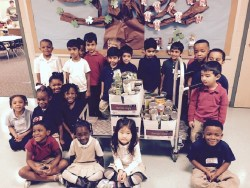 Ms. Rison's class at Landry Elementary with their food drive