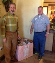 Kyle Taylor of Irving Cares picks up the food drive at Advanced Dental of Las Colinas