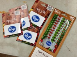 Kroger gift cards from PPAI 111616