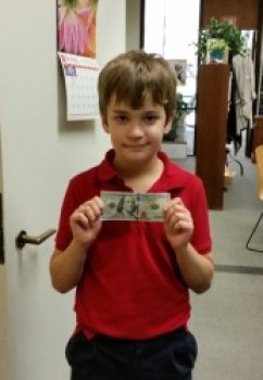 Aiden Burton and his $100 donation