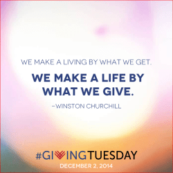 #GivingTuesday Churchill Quote