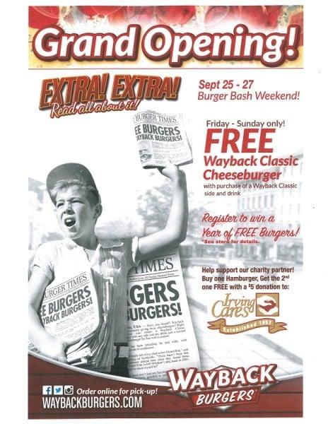 Wayback Burgers Grand Opening