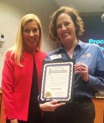Mayor Beth Van Duyne Presents #GivingTuesday Proclamation to Heather Newell